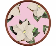 Poinsettia/Purple - Unrimmed Salad Plate