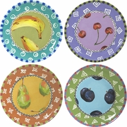 Fruit Frenzy - Unrimmed Salad Plate Set of 4