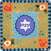 Droll Seder/Matzoh - Square Dinner Plate