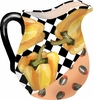 Picnic Pepper/Yellow - Large Pitcher