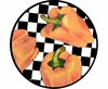 Picnic Pepper/Orange - Unrimmed Salad Plate