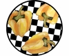 Picnic Pepper/Yellow - Unrimmed Salad Plate