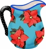 Poinsettia/Blue - Large Pitcher