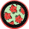Poinsettia/Green - Medium Platter