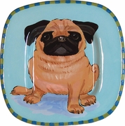 Pug - Small Square Platter