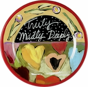 Truly, Madly, Deeply - Rimmed Dinner Plate