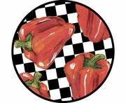 Picnic Pepper/Red - Unrimmed Salad Plate