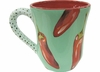 Peppers on Green - Mug