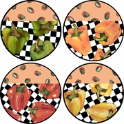 Picnic Pepper - Unrimmed Dinner Plate Set of 4