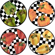 Picnic Pepper - Unrimmed Salad Plate Set of 4
