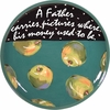 Father's Day/Apple - Unrimmed Dinner Plate
