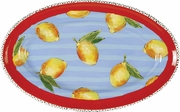 Striped Lemon - Large Oval Platter
