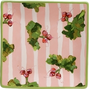 Radish/Peach Stripe - Square Charger