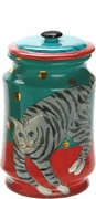 Kitty/Grey - Medium Biscuit Jar