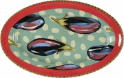 Dotted Eggplant - Large Oval Platter