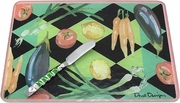 Harlequin Vegetable - Glass Cheese Board