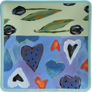 True Blue Valentine - Square Dinner Plate