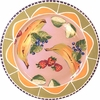 Fruit & Nut/Peach - Rimmed Dinner Plate