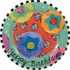 Happy Birthday - Rimmed Dinner Plate