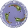Vegetable Chutney/Green Pepper - Rimmed Dinner Plate