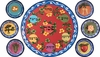 Flower Seder (no star) - Seder Set of 7