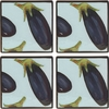Vegetable Blossom/Eggplant - Coaster Set of 4