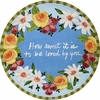 Wreath of Love - Unrimmed Dinner Plate