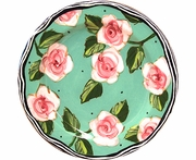 New England Meadow/Rose - Rimmed Salad Plate