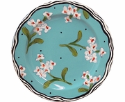 New England Meadow/Soapwort - Rimmed Salad Plate