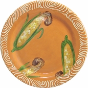 Vegetable Chutney/Corn - Rimmed Dinner Plate