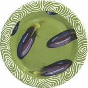 Vegetable Chutney/Eggplant - Rimmed Dinner Plate