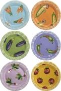 Vegetable Chutney - Rimmed Dinner Plate Set of 6
