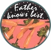 Father's Day/Carrot - Unrimmed Dinner Plate