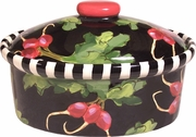 Black Radish - Medium Oval Casserole