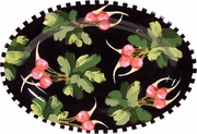 Black Radish - Small Oval Platter