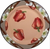 Vegetable Blossom/Pepper - Rimmed Dinner Plate