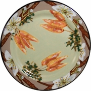 Vegetable Blossom/Carrot - Rimmed Dinner Plate