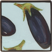 Vegetable Blossom/Eggplant - Coaster