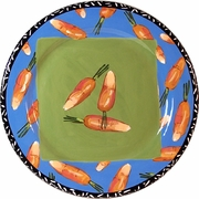 Very Veggie/Carrot - Rimmed Dinner Plate