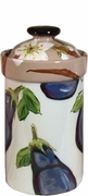Vegetable Blossom/Eggplant - Large Canister