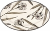Lily on White - Large Oval Platter