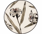 Lily on White - Rimmed Salad Plate