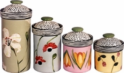 Flower - Canister Set of 4