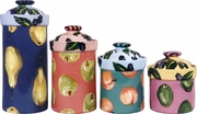 Blackberry Fruit - Canister Set of 4
