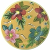 Tropical Flower - Rimmed Dinner Plate