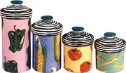Black Spiral Veggie - Canister Set of 4