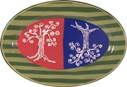 Sabbath/Trees - Challah Small Oval Platter