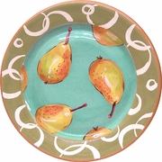 Fruity Loop/Pear - Rimmed Dinner Plate