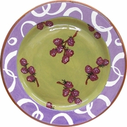 Fruity Loop/Raspberry - Rimmed Dinner Plate