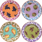 Fruity Loop - Rimmed Dinner Plate Set of 4
